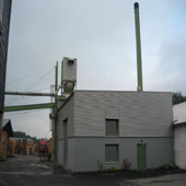 wood chip heating at palette factory Caspari