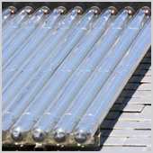 Solar thermal panel for hot water